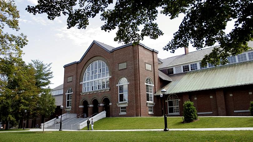 Front entry of Alumni Gymnasium