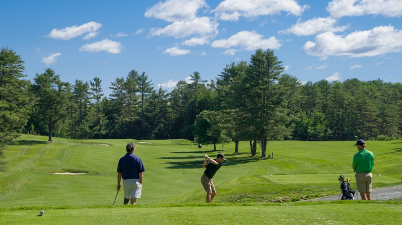 Golfers tee off at the Hanover Country Club